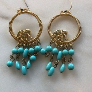 Lilly Pulitzer Jewelry - Lilly Pulitzer Elephant Hoop earrings